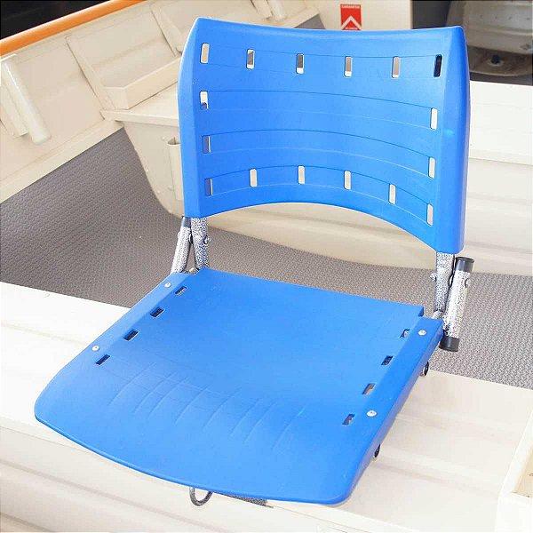 Cadeira giratória dobrável p/ pesca piloteiro polipropileno