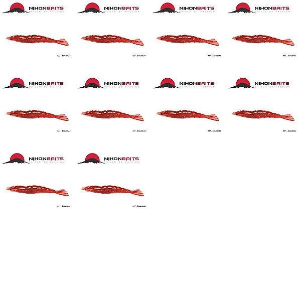 10 Isca artificial Camarão JET Shrimp Nihon 8,7cm TOMATINHO