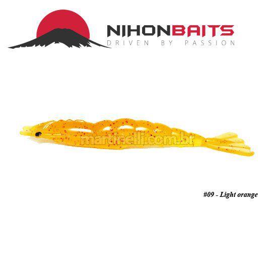 Isca artificial Camarão JET Shrimp Nihon Baits 8,7cm - 09 LIGHT ORANGE