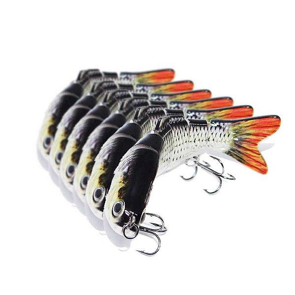 6 Isca Articulada Artificial Fishmaster Lambari cor: H12031 Tambiu