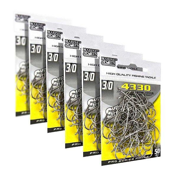 300 Anzóis Marine Sports 4330 n.3/0