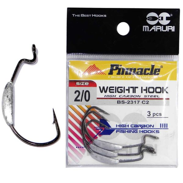 Anzol Pinnacle Weight c/ chumbo N. 2/0 c/ 3 un.