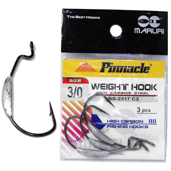 Anzol Pinnacle Weight c/ Chumbo N. 3/0 c/ 3 un.