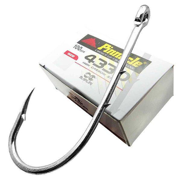 Anzol Pinnacle 4330 6/0 c/ Farpas c/ 100 un