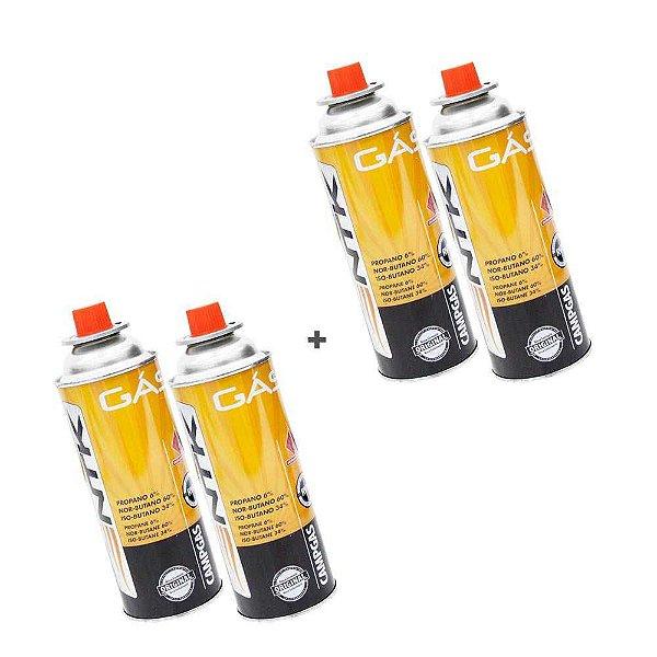 Kit 4 Cartuchos de gás Nautika Campgas