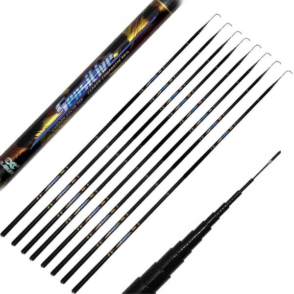 Kit de Pesca:  Vara telesc Maruri Sensiti2,70m/3,60m-99% car