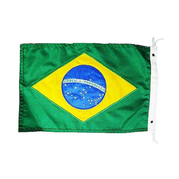 Bandeira do Brasil - 22x33 bordada - Uso Náutico