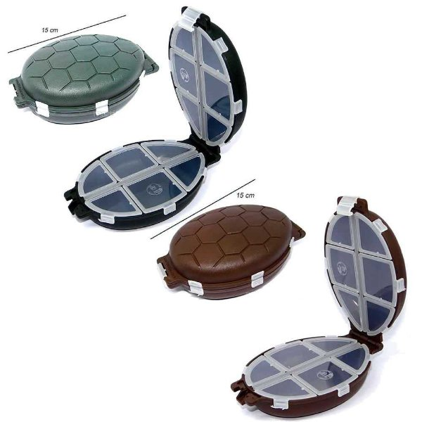 Kit 1X Estojo tartaruga marrom + 1X Estojo tartaruga verde