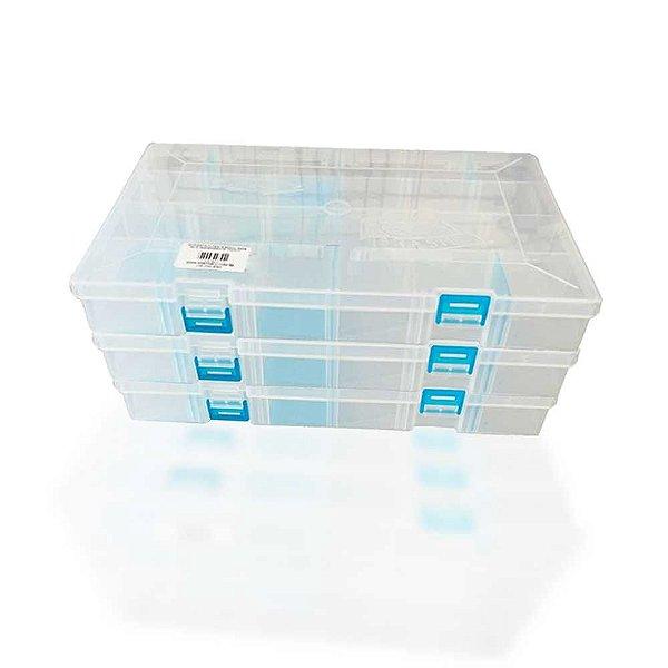 3 Estojo papa iscas transparente até 24 compartimentos