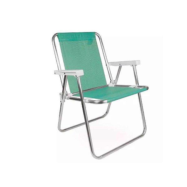 Cadeira Praia Camping Alta Alumínio Sannet Anis Mor 002255