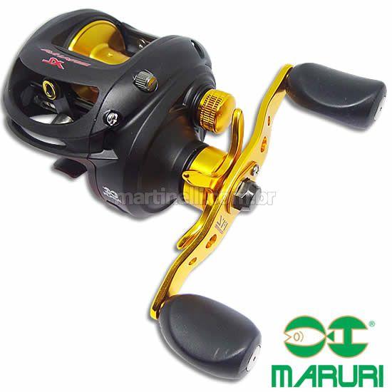 Carretilha Maruri Brahva 7000 XLH (Modelo Big Game) - 7 rolamentos - Super velocidade 7.1:1 Cap. 170m linha 0,35mm - Esquerda - Perfil Baixo