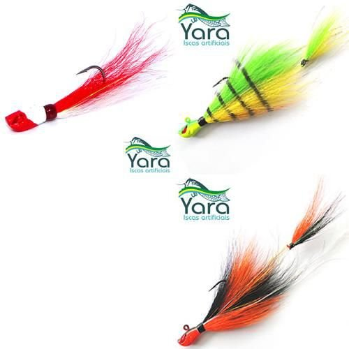 Kit 3 Iscas artificiais Yara Killer Jig - 10g e 17g