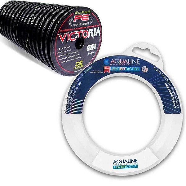 400m Linha mult Victoria  0,34mm,0,27mm + 50m Linha Leader