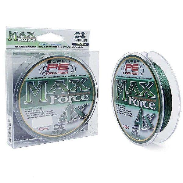 Linha Multifilamento Maruri Max Force 4x 150m 0,14mm 18lb 8,32kg - Verde