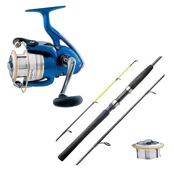 Kit de pesca: Molinete Daiwa Regal 3000 XIA - 10 +1 rolamentos... + Vara Marine Sports Laguna 2 Nova S602MH - 15-30 lb - (m...