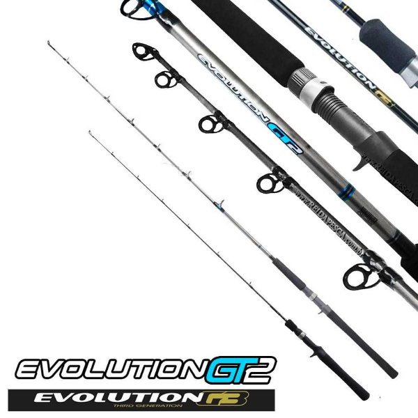 2 Varas Marine Sports Evolution - GT2 20-60lb e G3 6-12lb