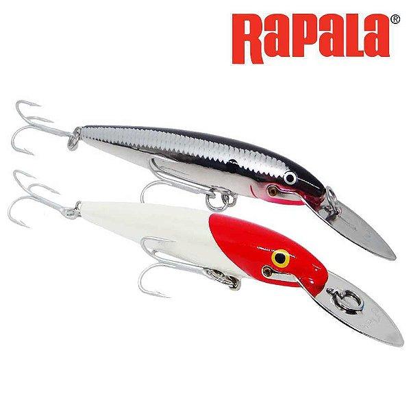 Kit 2 Un. Isca Artificial Rapala Magnum Chrome + Red Head