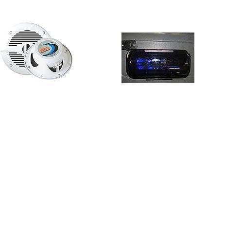 Alto Falante Marinizado Boss 180W 6.5 (PAR)+ Protetor Radio