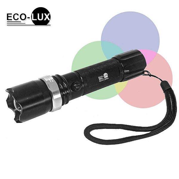 Lanterna Recarregável Explorer LED - Aluminum Flashlight ECO-L209A