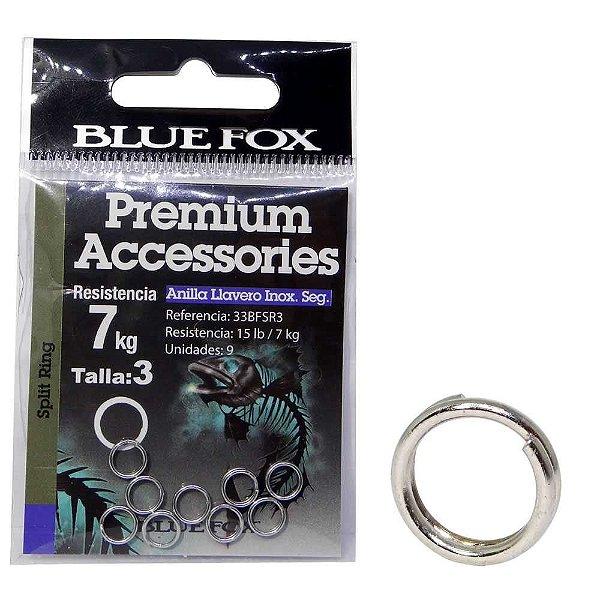Argola Anel Inox Blue Fox Size 03 33bfsr3 c/ 9 un.