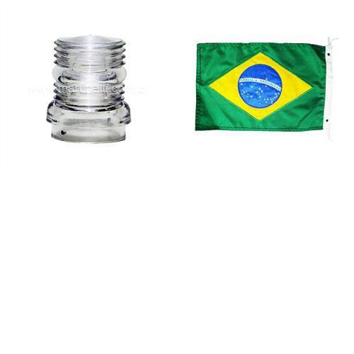 Lente de reposição para luz alcançado + Bandeira do Brasil.