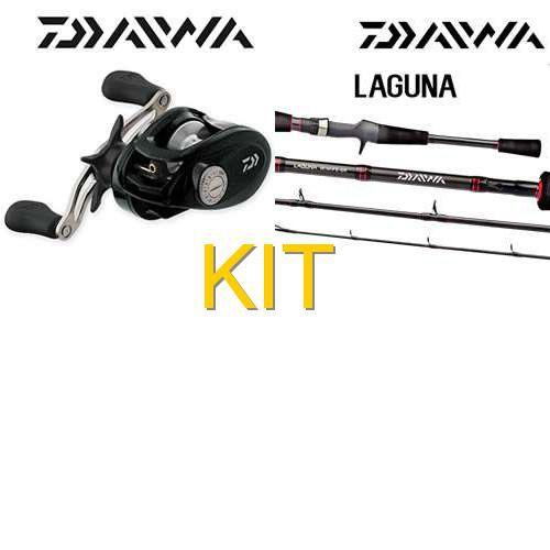 Kit Daiwa: Carretilha Daiwa Laguna 100HSA direita 6 Rol... + Vara Daiwa Laguna - 08-16lbs - 5