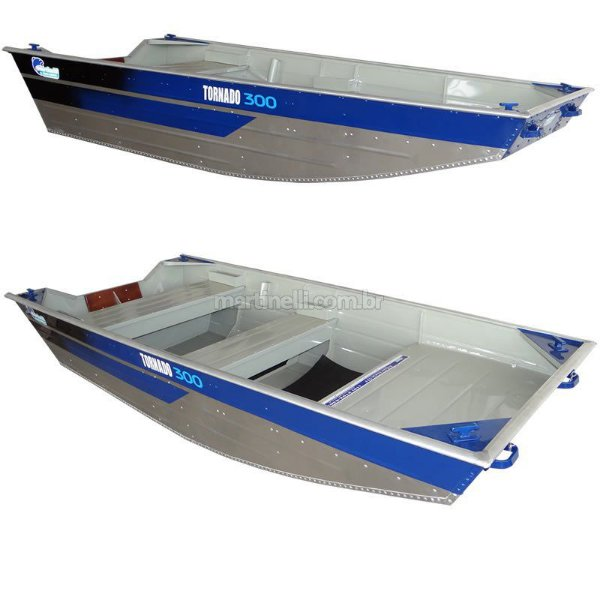 Barco de alumínio Tornado Chata 300 borda alta - Preço à vista R$ 2.990,00