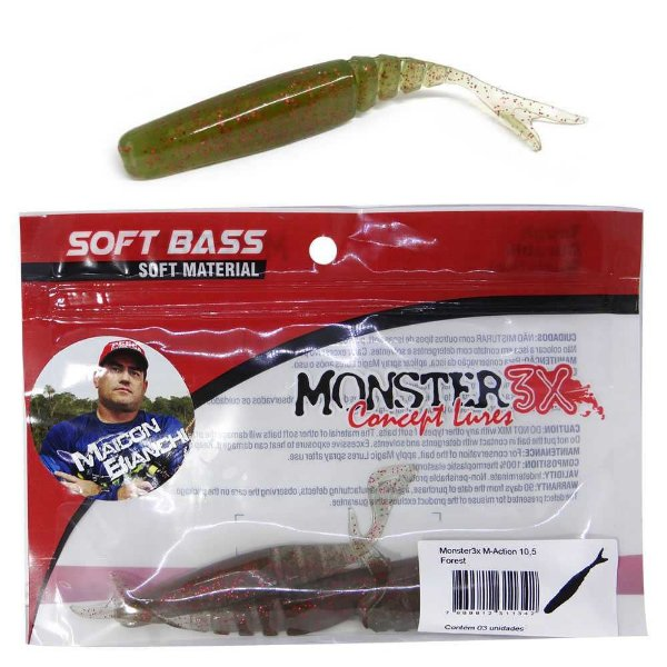Isca Monster 3X M-action 10 5cm Florest 3 un.