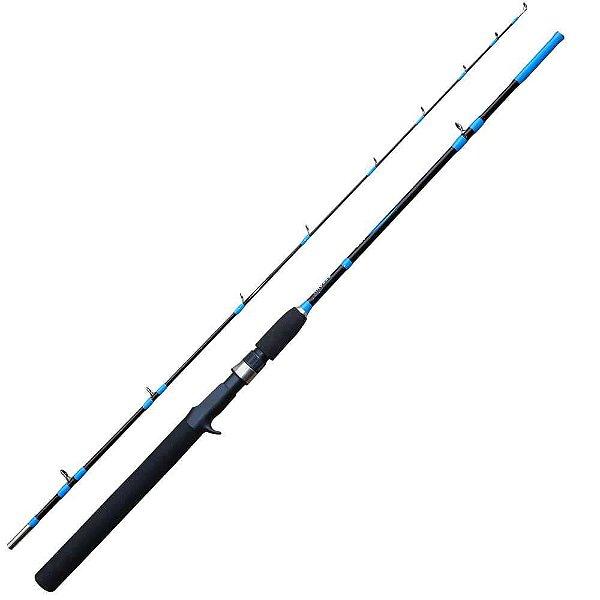 Vara Guang Ling Pp10180-2 1,80m Piapara p/ carretilha 2 Partes Azul ou Vermelha