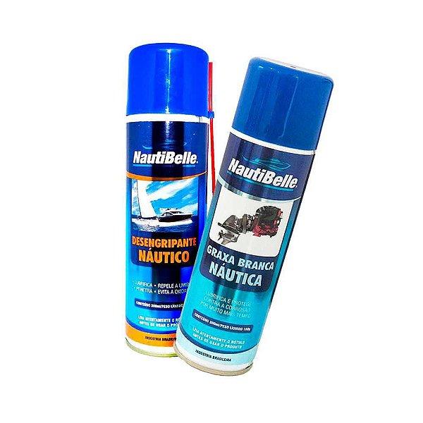 Desengripante Protetor Nautibelle 300ml + Graxa Branca 300ml