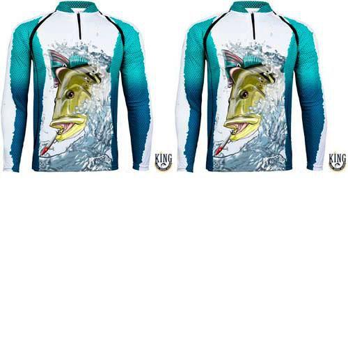 2 Camiseta de Pesca King 57 - Tucunaré - Tam: 03 - G
