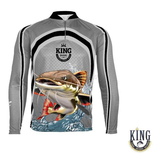 Camiseta de Pesca King 77 - Pirarara - Tam: 05 - EX