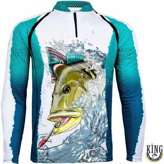 Camiseta de Pesca King 57 - Tucunaré - Tam: 05 - EX