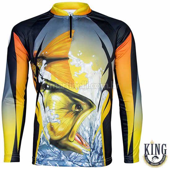 Camiseta de Pesca King 28 - Dourado - Tam: 02 - M