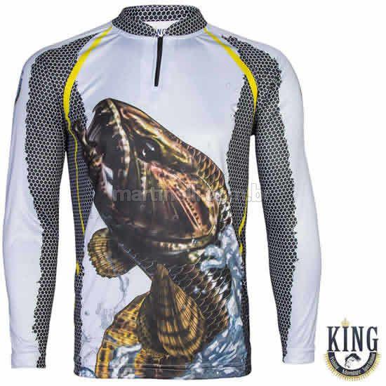 Camiseta de Pesca King 23 - Trairão cinza - Tam: 03 - G