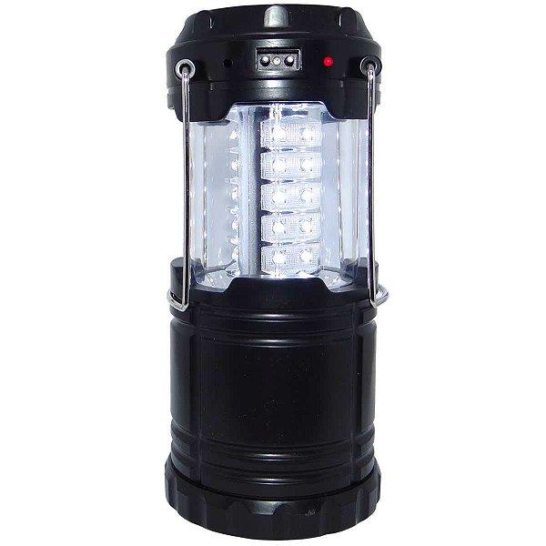 Lampião Recarregável J.W.S WS-85B Solar e Celular Entrada USB