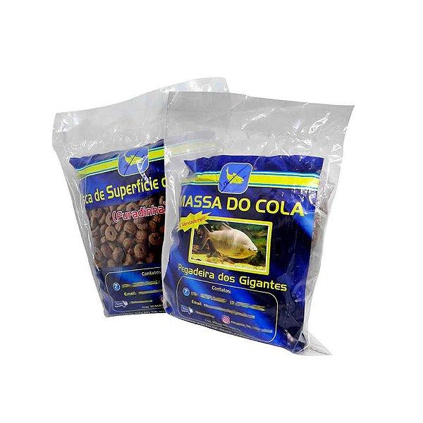 Massa Para Pesca Do Cola Gigantes 500 gram + Ração Furadinha