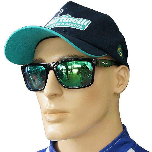 Óculos De Sol Polarizado Dark Vision - Lente Verde Espelhado - 03081
