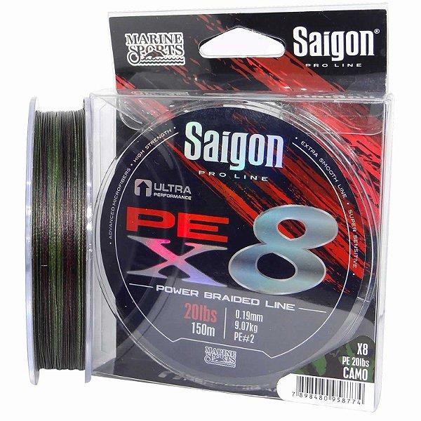 Linha multi Saigon X8 150m 0,25mm 35lb Camouflaged