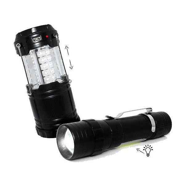 Lampião Recarregável J.W.S WS-85B Solar+ Lanterna lampião mini USB