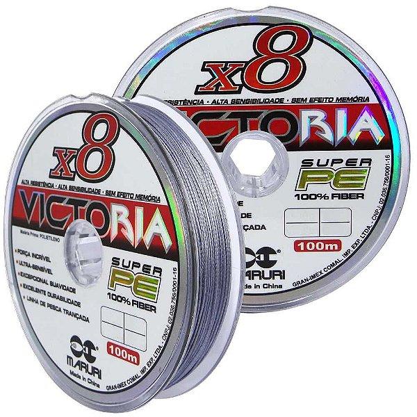 Linha multifilamento Maruri Victoria 8X 0,55mm 100m 80lb