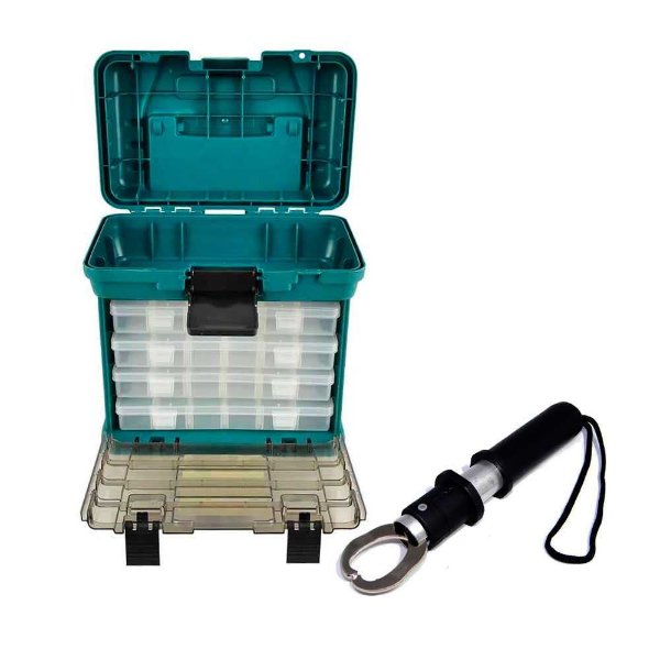 Caixa de pesca Nautika MB1 + Alicate MKI Mini Sem Balança