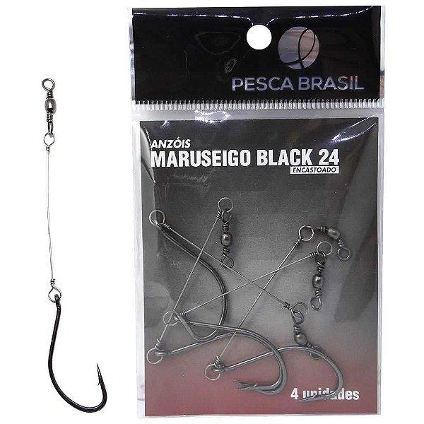 Anzol Pesca Brasil Maruseigo Black Encastoado 24 094109-un