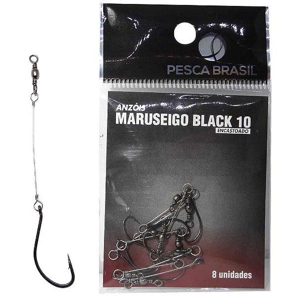 Anzol Pesca Brasil Maruseigo Black Encastoado 10 094102-un