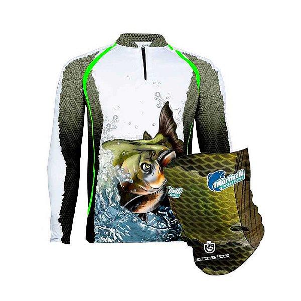 Camiseta de Pesca King 67 - Tam: EX + Breeze King Pro Tucunaré - Proteção UV (Máscara de Proteçao Solar)