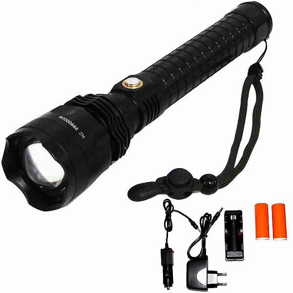 Lanterna Xml T9 Potente recarregável - 2 baterias 26650