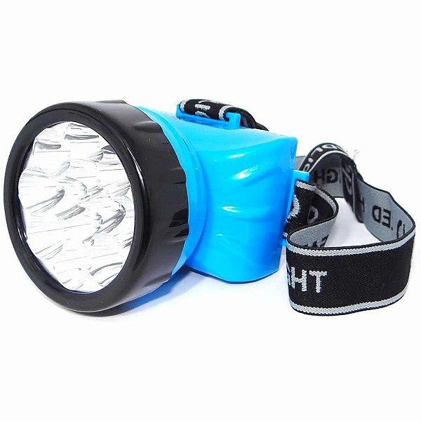 Lanterna de cabeça 722-b 12 Leds ideal para caça pesca camping