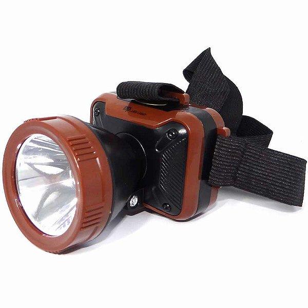 Lanterna De Cabeça Dp-7215 Recarregável Super Led