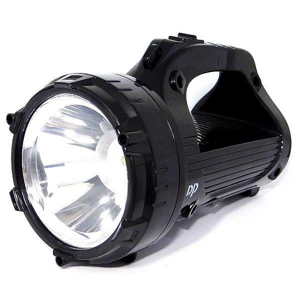 Lanterna 770 tipo holofote c/ 16 leds e bateria recarregável