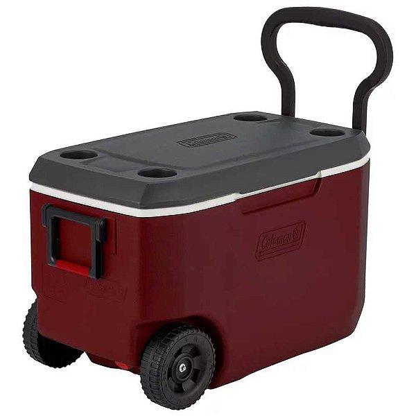 Caixa Térmica Coleman 62 Qt 58l Xtreme 5 - Vermelha c/ Roda 110130005890